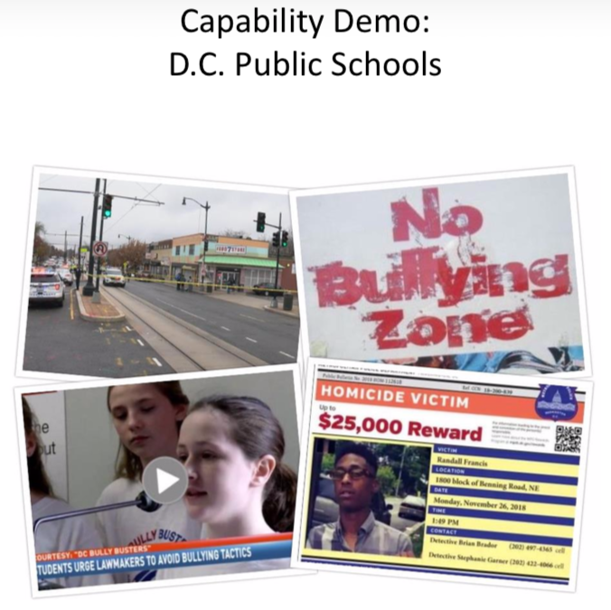 Capability Demonstration: DC Public Schools