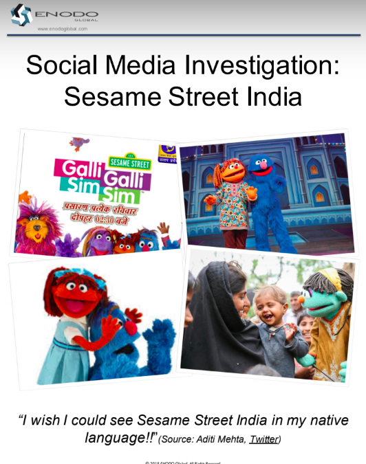 Social Media Investigation: Sesame Street India