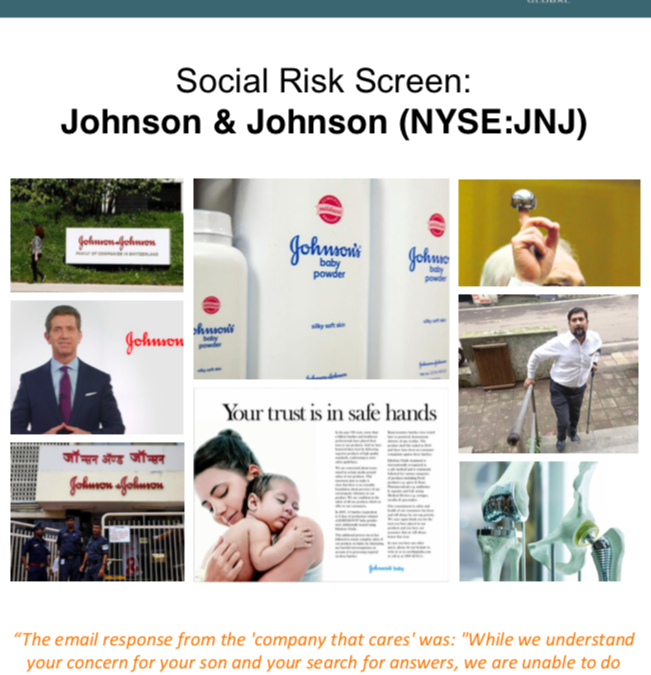 Social Risk Screening: Johnson & Johnson