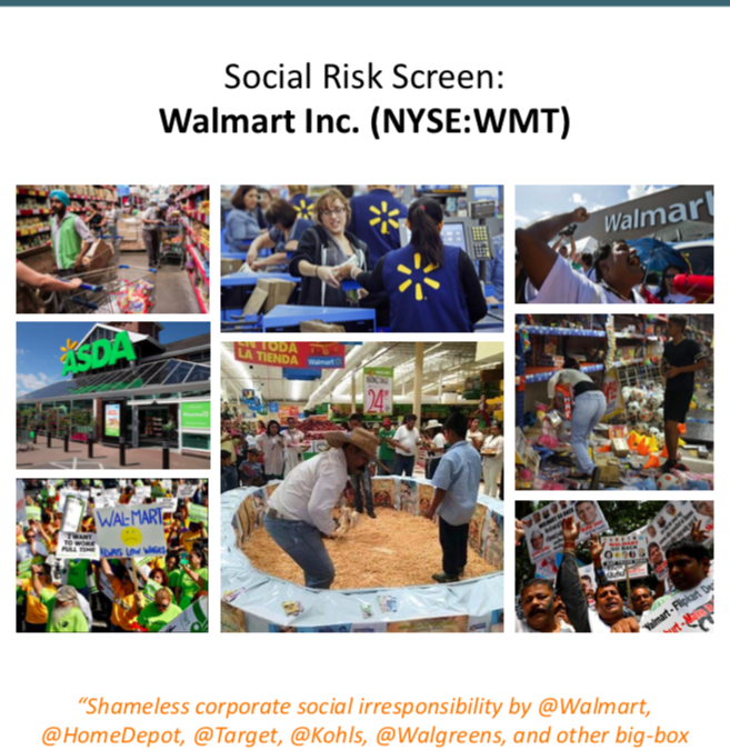 Social Risk Screening: Walmart