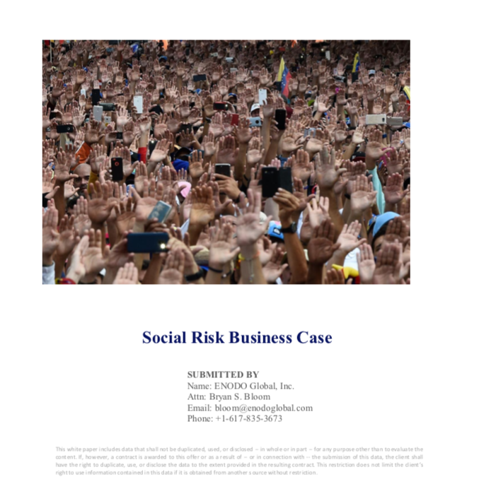 Social Risk Analysis: Business Case