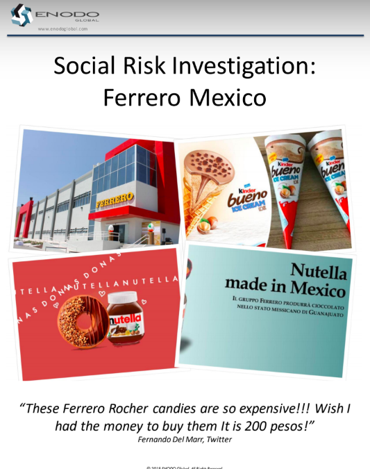 Social Risk Investigation: Ferrero Mexico