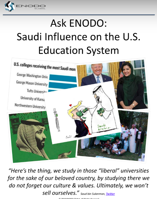 Ask ENODO: Saudi Influence on the U.S. Education System